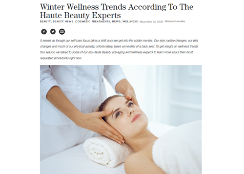 Winter Wellness Trends According To The Haute Beauty Experts